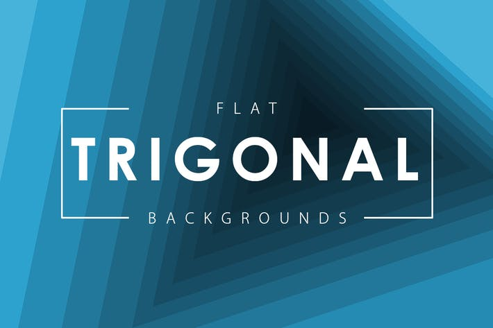 Cover Image For Flat Trigonal Backgrounds