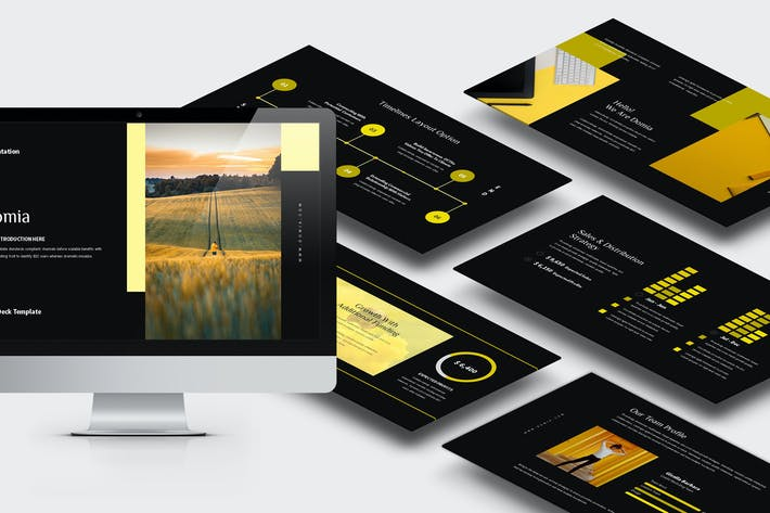 Thumbnail for Domia : Yellow Color Tone Pitch Deck Keynote