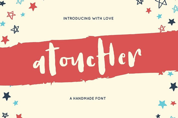 Thumbnail for Atoucher Love Font + Webfonts