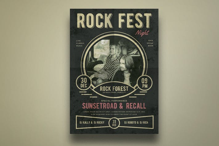 Thumbnail for Rock Fest Flyer