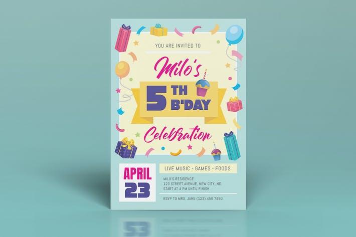 Cover Image For Birthday Celebration Invitation