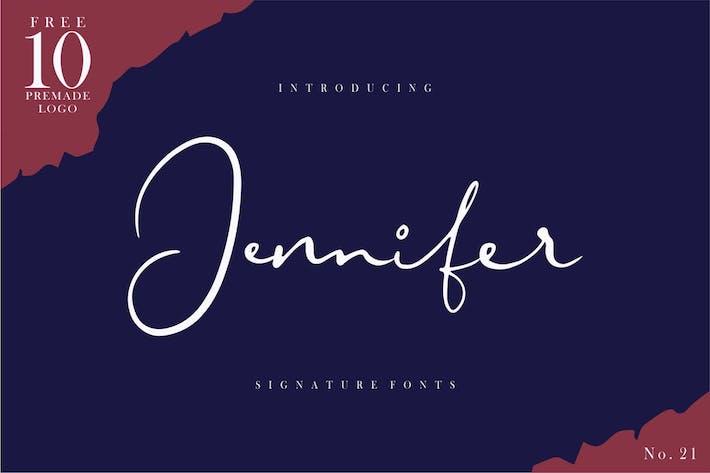 Thumbnail for Jennifer | Signature Font