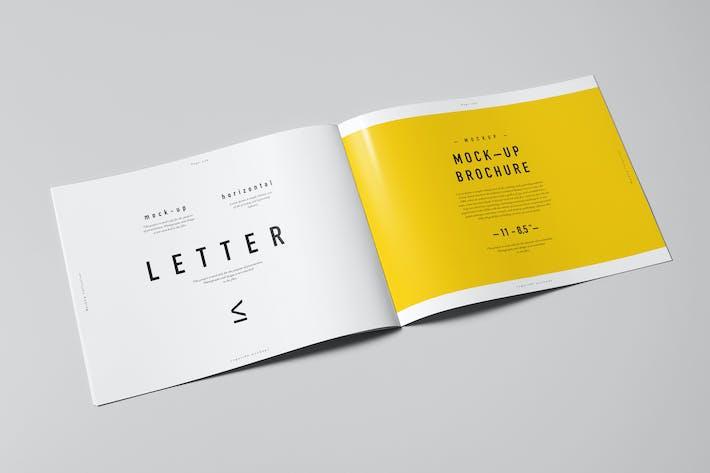 horizontal brochure template - us letter horizontal brochure mock up by yogurt86 on