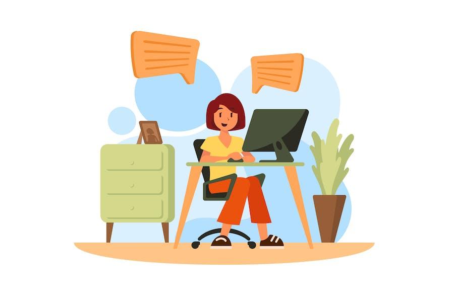Von zu Hause aus arbeiten