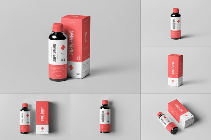 Thumbnail for Supplement Bottle & Box Mock-up 1