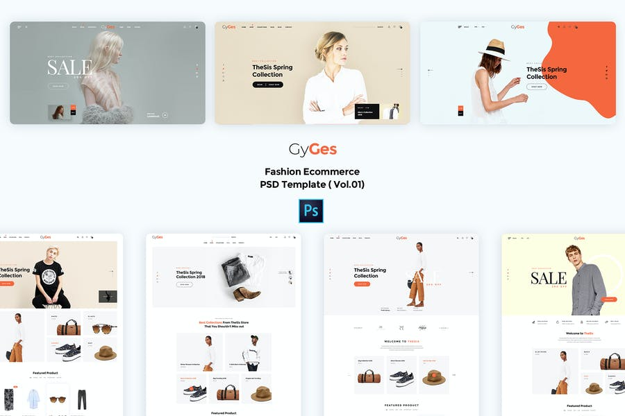 Gyges-Fashion Ecommerce PSD Template ( Vol.01)