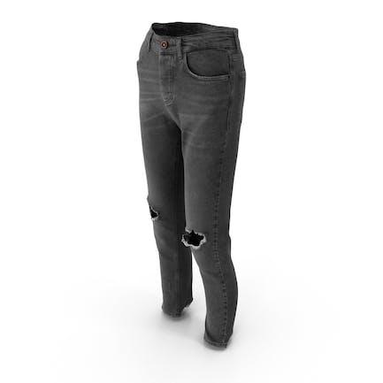 Damen Jeans Dunkelgrau