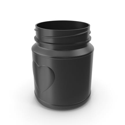 Jar Heart Black without Lid