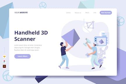 Handheld 3D Scanner - Landing Page