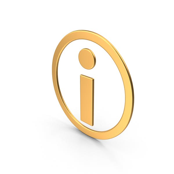 Information Symbol Gold