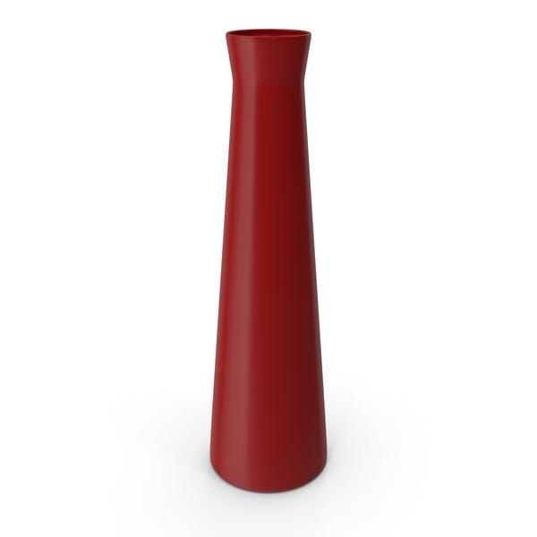 Красная цветочная ваза