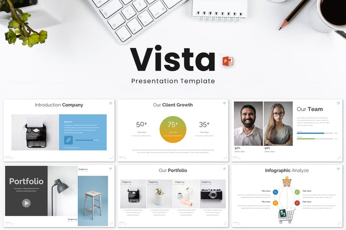 Cover Image For Vista - Powerpoint Template