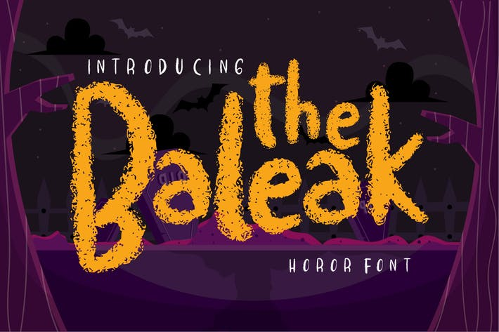 Thumbnail for The baleak | Decorative Horror Font