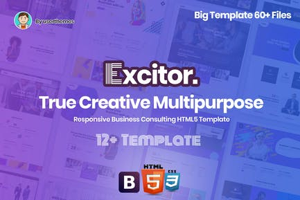 Excitor - Responsive Business Consulting Template