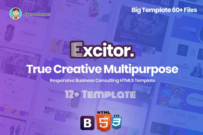Thumbnail for Excitor - Responsive Business Consulting Template
