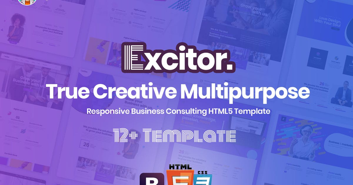 Excitor - Responsive Business Consulting Template by UserThemes