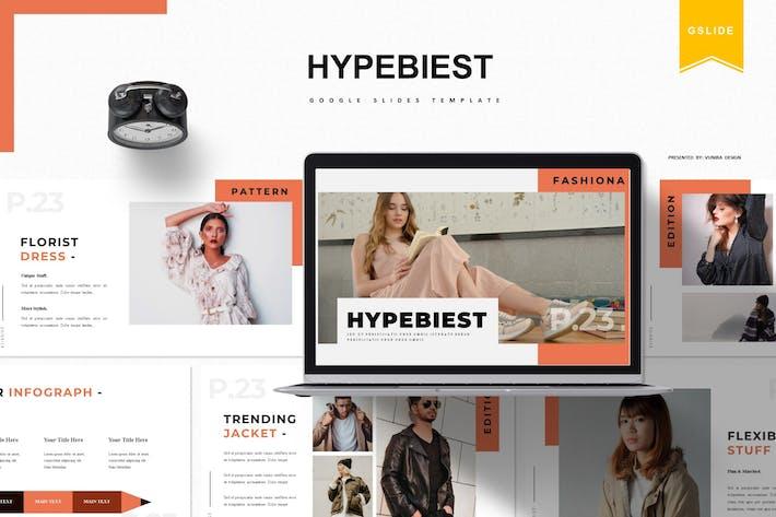 Thumbnail for Hypebiest | Google Slide Template