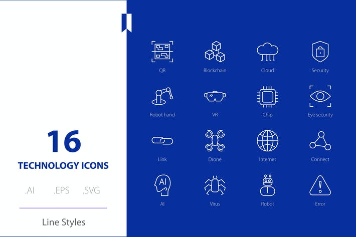 Technology  Icon Line Styles