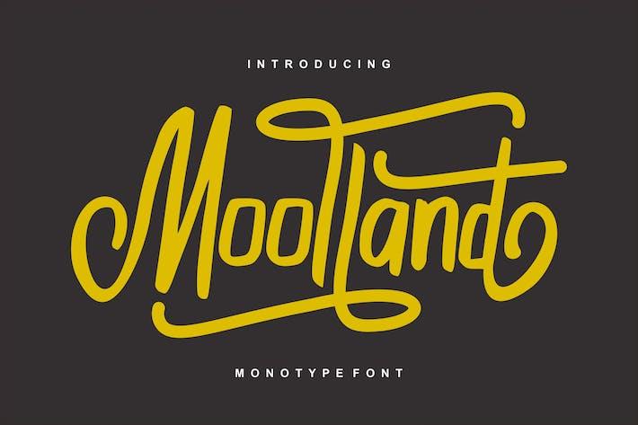 Thumbnail for Moolland | Police de script monotype