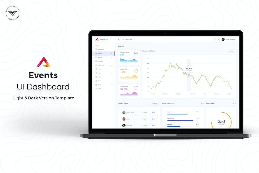 Events Admin Dashboard UI Kit