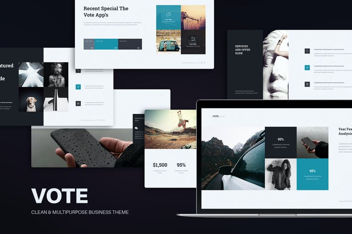 Thumbnail for Vote Minimal Business Template (Keynote)