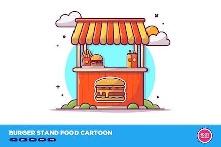 Burger Stand Food Cartoon