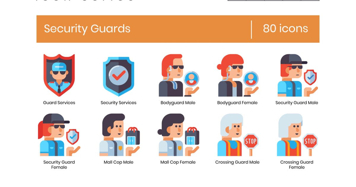 Download 80 Security Guard Icons - Astute Series by Krafted
