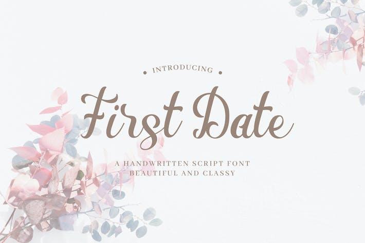 Thumbnail for Première date - Script manuscrit romantique