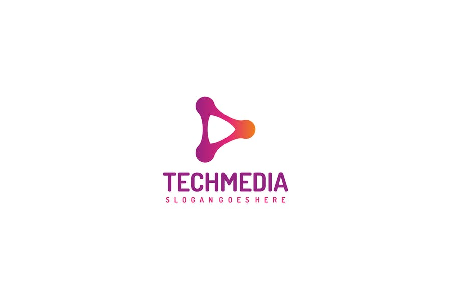 Tech Media -Play Logo
