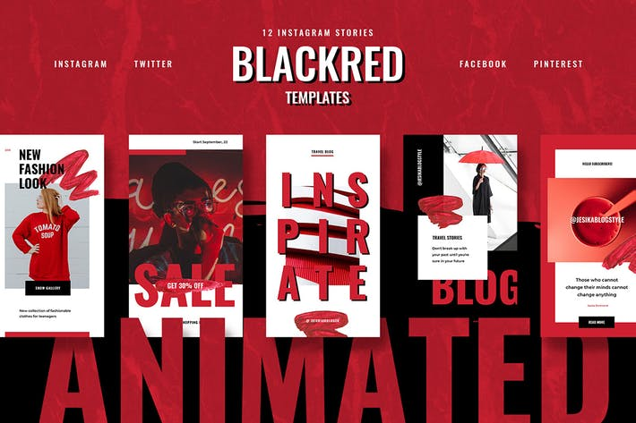 Thumbnail for ANIMATED Blackred Instagram Stories