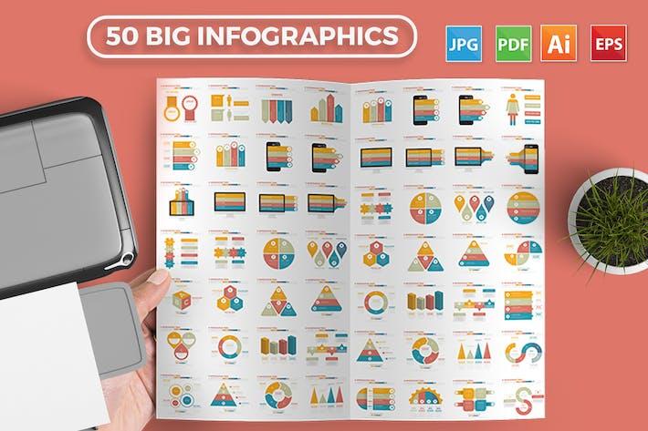 Thumbnail for 50 Infographics Elements Design