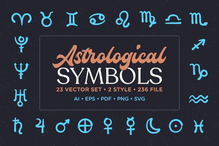 Thumbnail for Astrologisches Symbol Vektor -Set