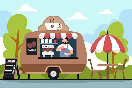 Иллюстрация кофейной машины