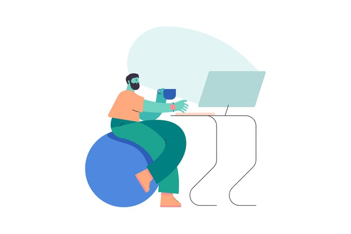 Thumbnail for Workspace Flat Illustration