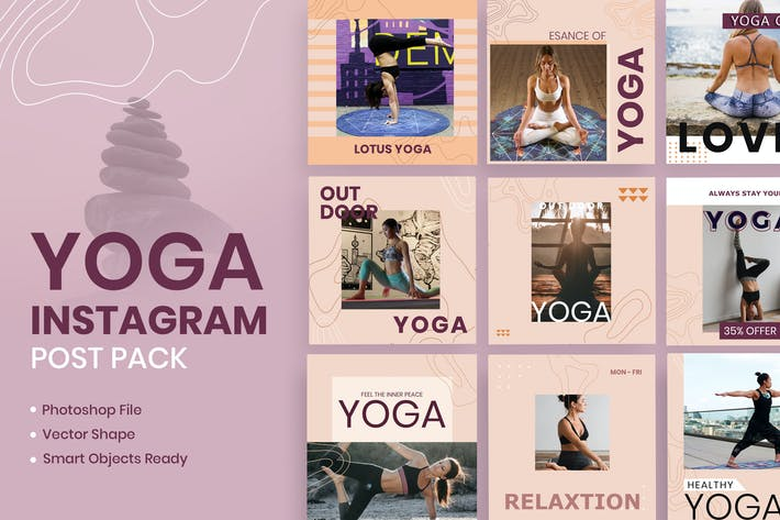 Thumbnail for Yoga Social Media Template