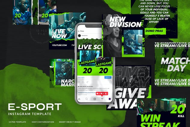 eSport & Gaming Instagram Template V.07 - product preview 0