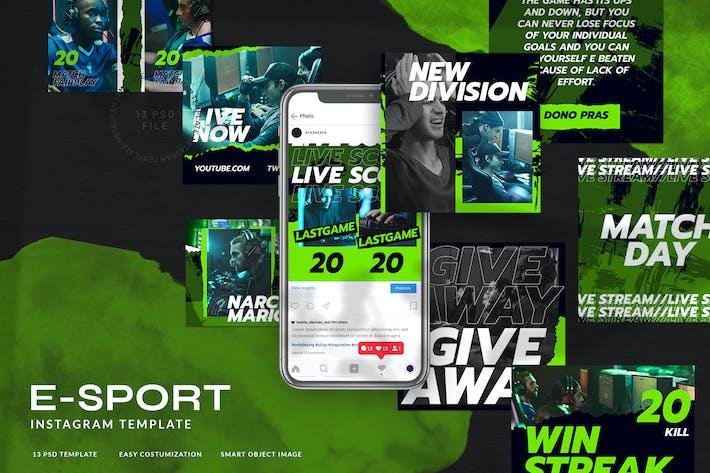 Thumbnail for eSport & Gaming Instagram Template V.07