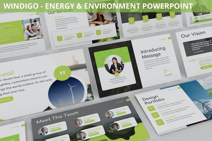 Thumbnail for Windigo - Energy & Environment Powerpoint Template