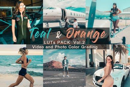 TEAL & ОРАНЖЕВЫЙ - LUTs Pack Vol.2