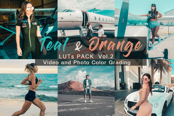 Thumbnail for TEAL & ORANGE -  LUTs Pack Vol.2