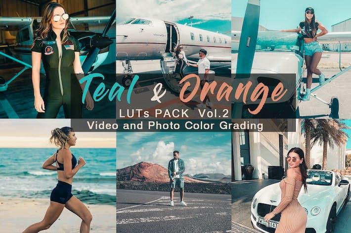 Thumbnail for Verde azulado y naranja - LUTs Pack Vol.2