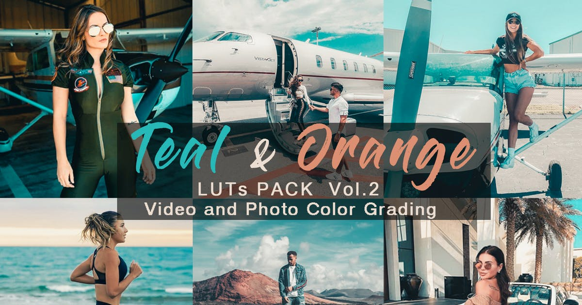 Download TEAL & ORANGE -  LUTs Pack Vol.2 by allanthedp