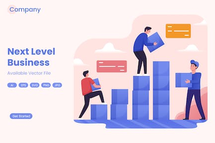 Teamwork Stacking Blocks for Business Growth
