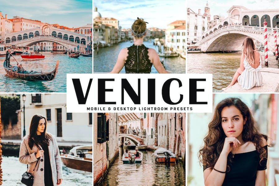 Пресеты Lightroom для мобильных и настольных компьютеров Venice