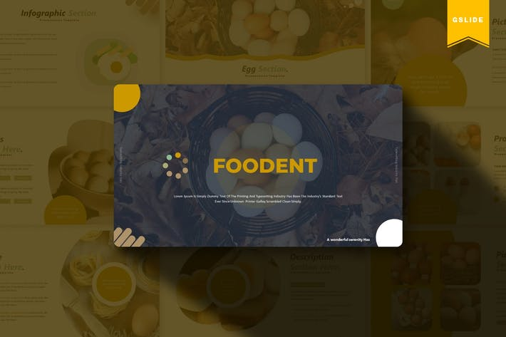 Thumbnail for Foodent | Google Slides Template