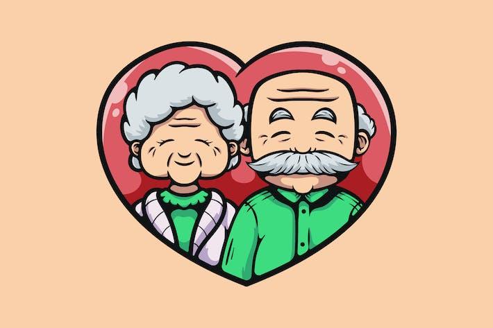 Thumbnail for Cartoon Großeltern Mit Liebe