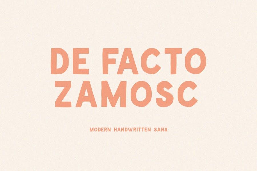 De Facto Zamosc Font
