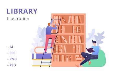 Bibliotheksillustration