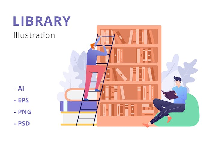 Library Illustration