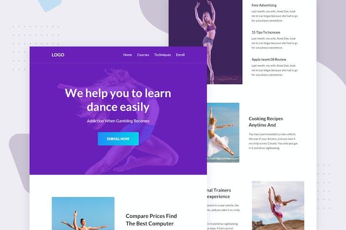 Thumbnail for Dance Studio - Email Newsletter